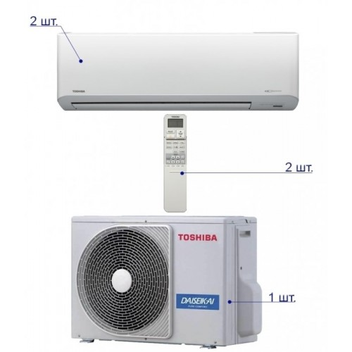 Toshiba RAS-M18UAV-E/RAS-B10N3KV2-E*2шт